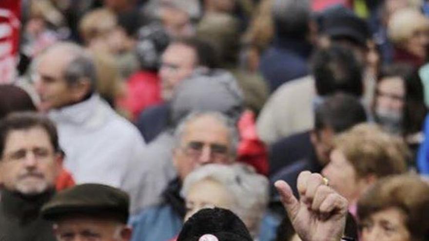 Pensionistas en Madrid