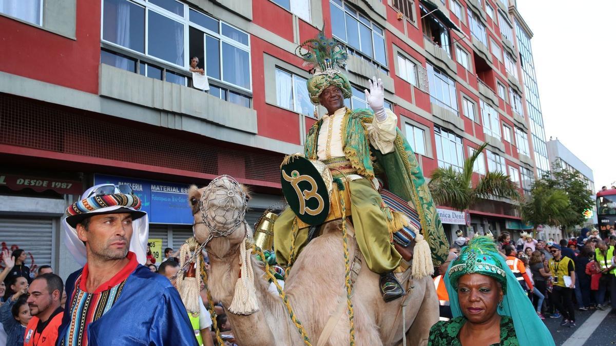 Cabalgata de Reyes en Las Palmas de Gran Canaria en 2018.