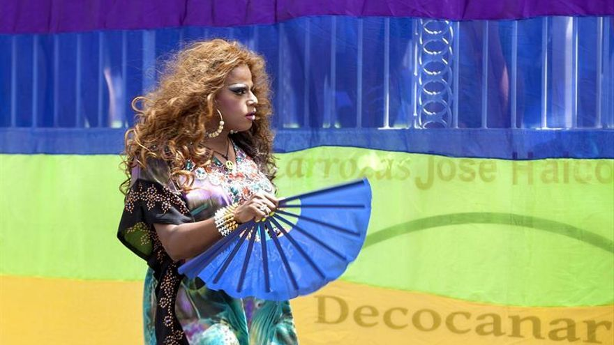 Pride Parade de Maspalomas 2015, la cabalgata que ha clausurado la Semana del Orgullo LGTB del sur de Gran Canaria. Foto: EFE