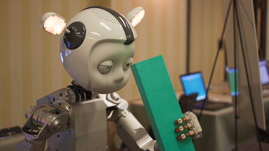 El robot humanoide Simon en una conferencia de Inteligencia Artificial en 2010 (Foto:Jiuguang Wang   Flickr)