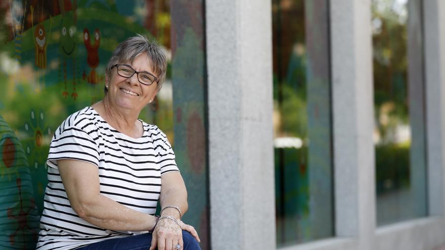 Mely de la Cruz, profesora interina y pionera en denunciar a la administración para que le paguen los veranos.