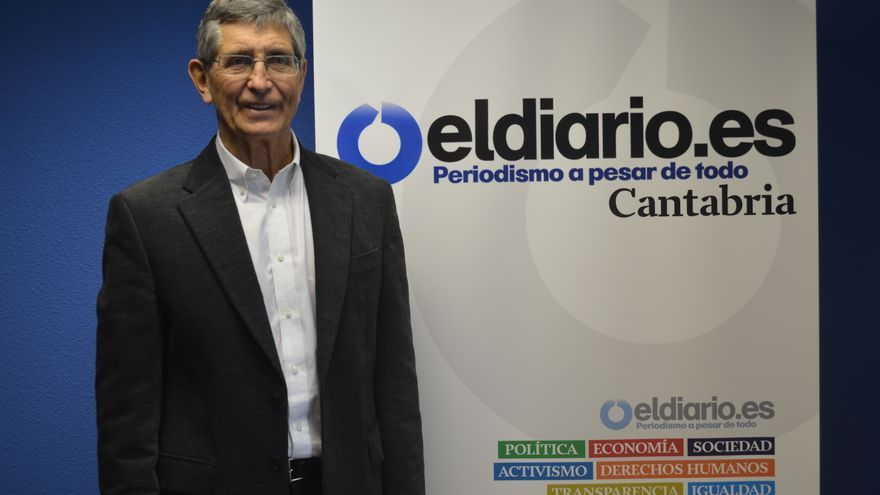 El alcalde de Castro Urdiales en la redacción de eldiario.es Cantabria. | Alesander García