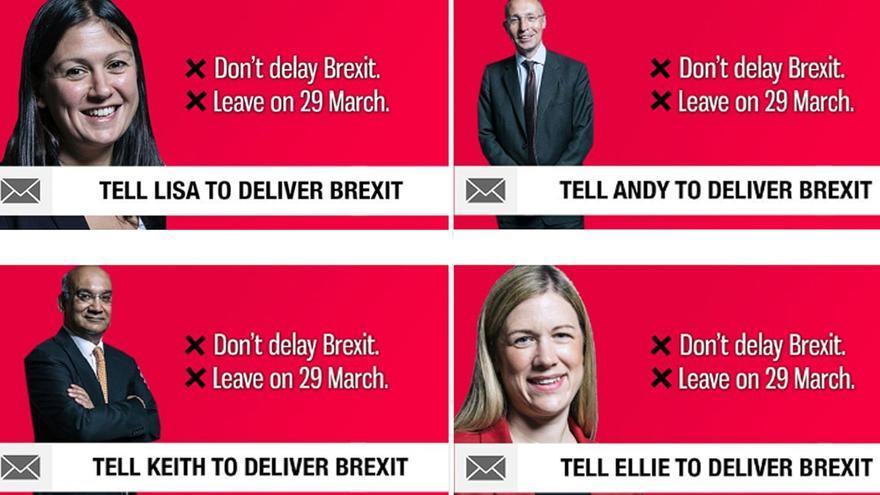 Imagen de la campaña lanzada por Britain's Future.