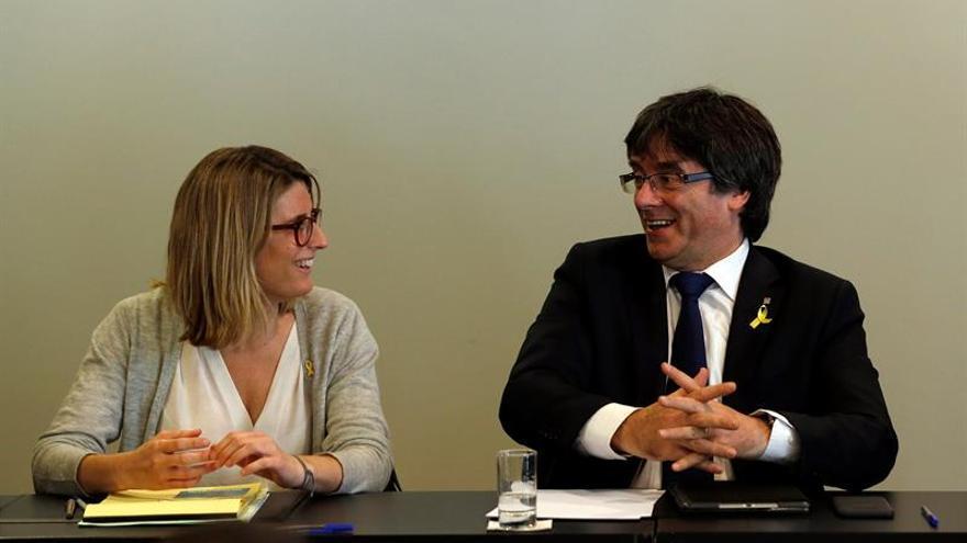 Comienza la reunión del grupo parlamentario de JxCat con Puigdemont en Berlín