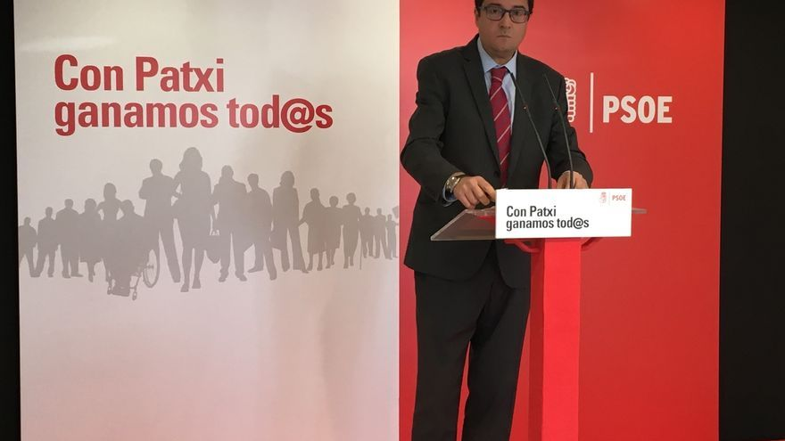 """Óscar López asegura que Patxi López es el candidato que """"garantiza"""" que no vuelva la división al PSOE"""