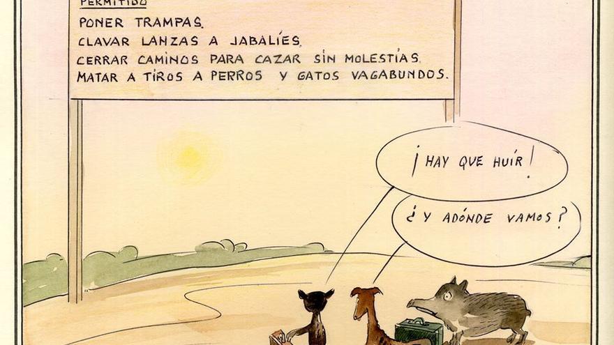 Ley de Caza. Dibujo: Paco Catalán Carrión
