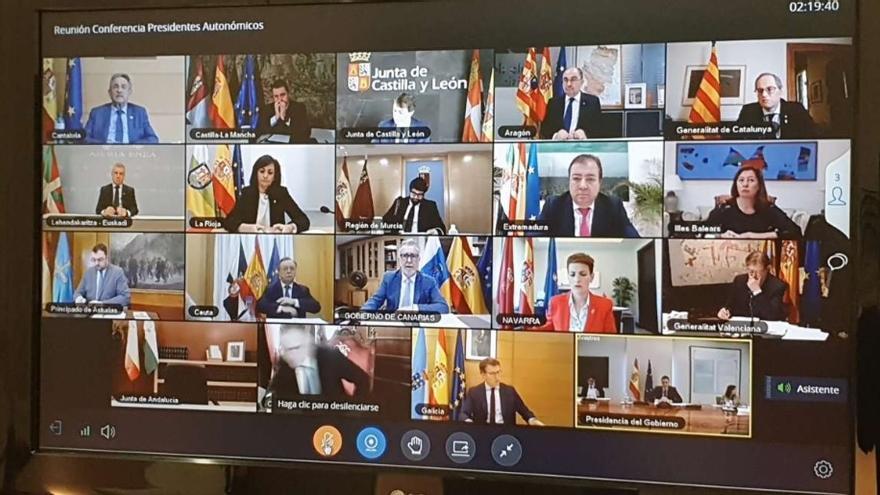 Conferencia de Sánchez con los presidentes autonómicos