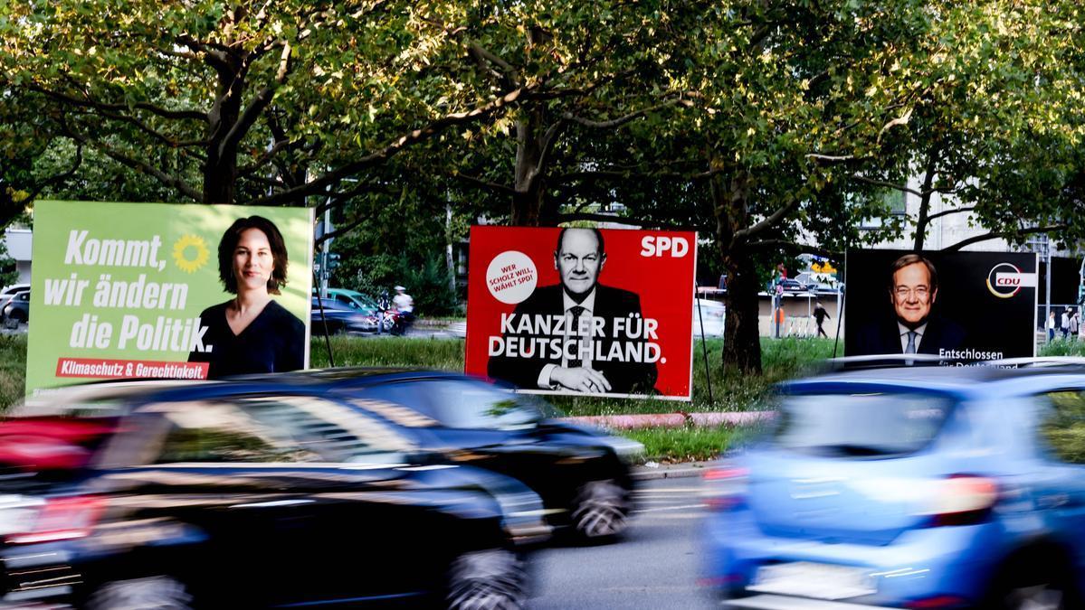Carteles de la campaña para las elecciones alemanas.