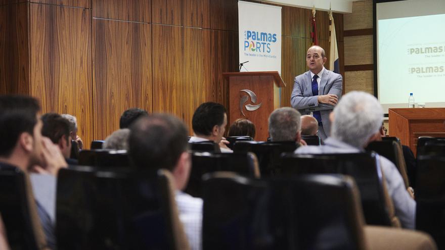 Juan José Cardona, en la presentación de 'Las Palmas Ports, the leader in the Mid Atlantic'