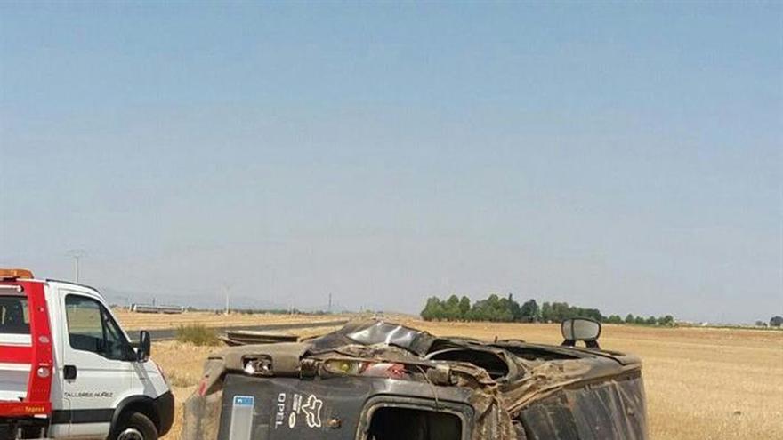 Una fallecida y 9 heridos en un accidente de tráfico en Daimiel (Ciudad Real)