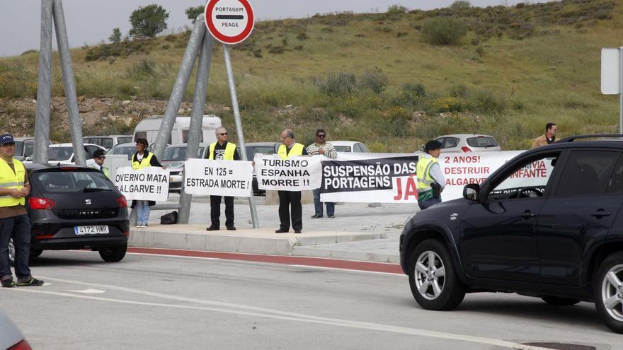 El peaje en el Algarve portugués: tres años de sangría económica a ambos lados de la frontera