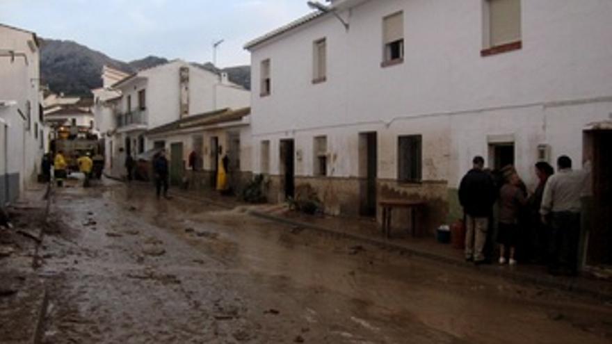 Efectos del temporal en Villanueva del Rosario
