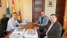 Reunión con el alcalde de San Andrés y Sauces.