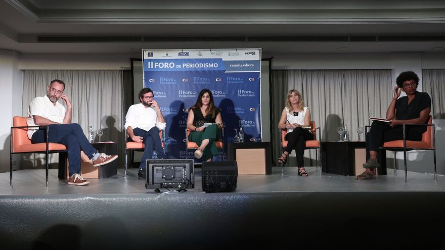 Mesa sobre África en el II Foro de Periodismo de Canarias Ahora. (ALEJANDRO RAMOS)