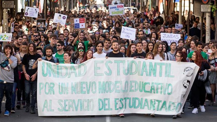 Convocadas más de 40 manifestaciones en el segundo día de huelga estudiantil