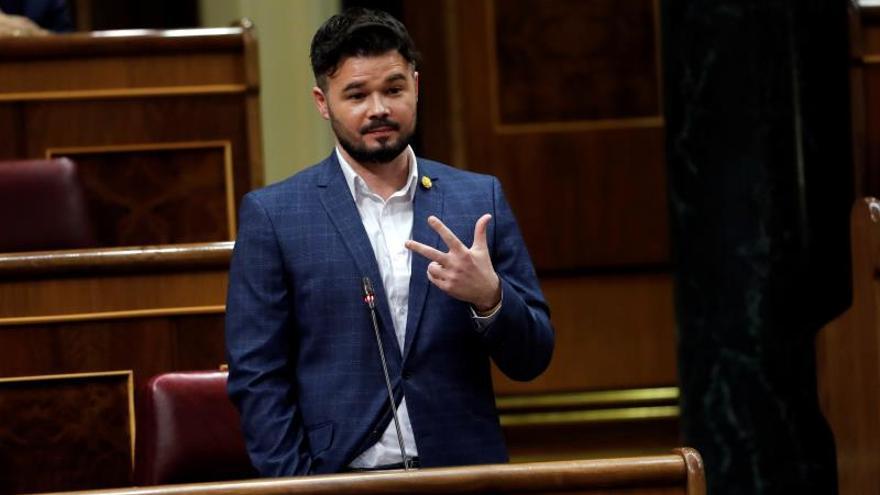 """Rufián dice tras las críticas al acuerdo con el PSOE que """"ganar tiene un coste"""""""