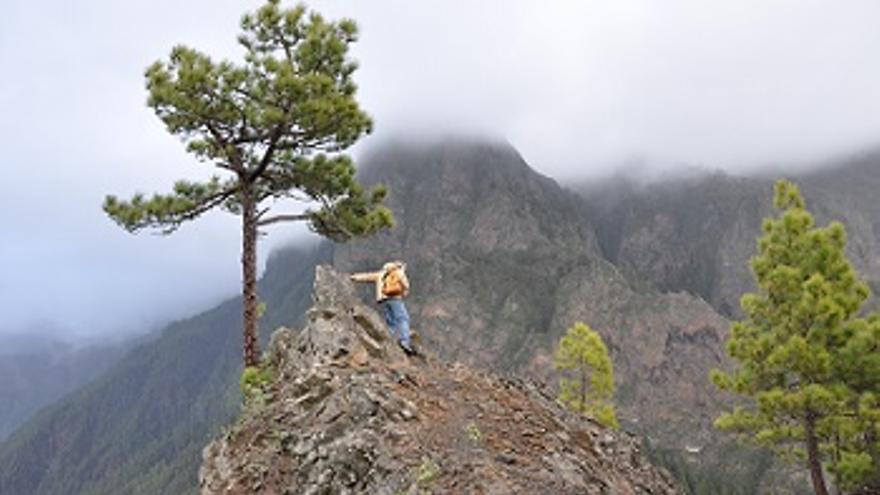 Promontorio en la divisoria entre La Caldera y el Riachuelo situado a 1.470 metros de altitud. (Foto: ÁNGEL PALOMARES)