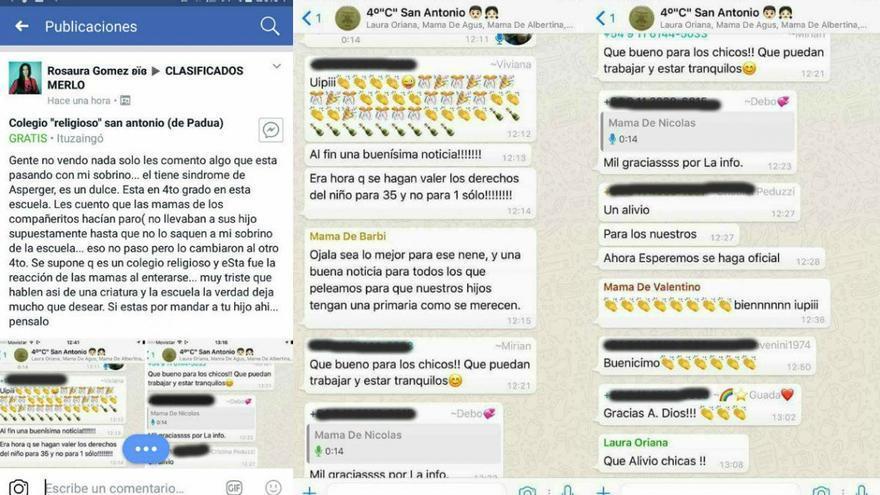 Grupo de Whatsapp de las madres