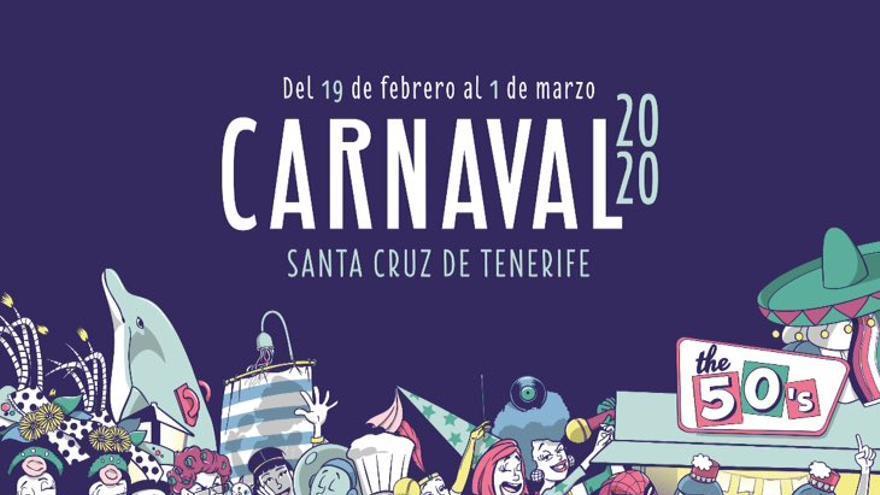 Cartel del Carnaval de Santa Cruz de Tenerife 2020