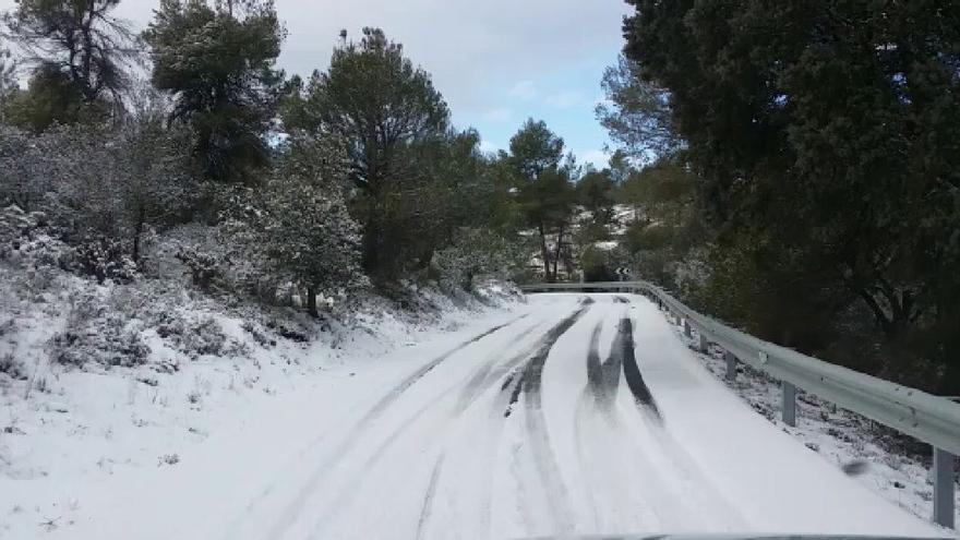 Imagen de la nevada en Fontanars dels Alforins, en la Vall d'Albaida