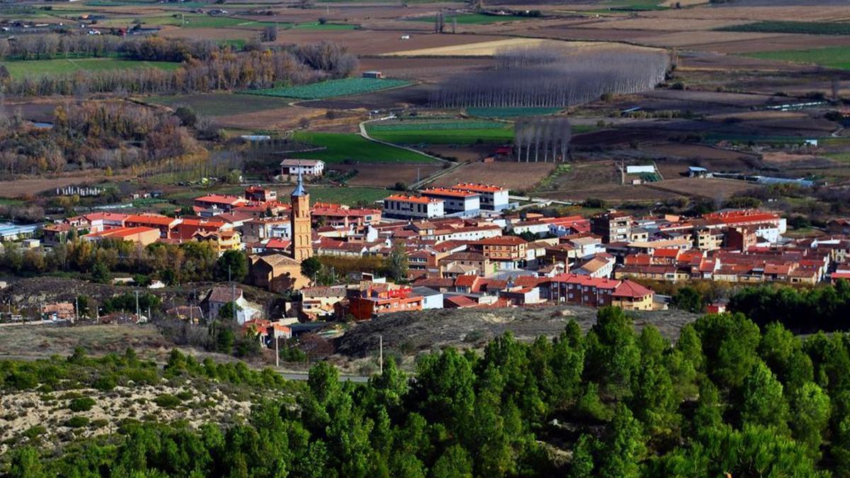 Vista aérea de Funes, municipio que desde el viernes estará cerrado perimetrlamente