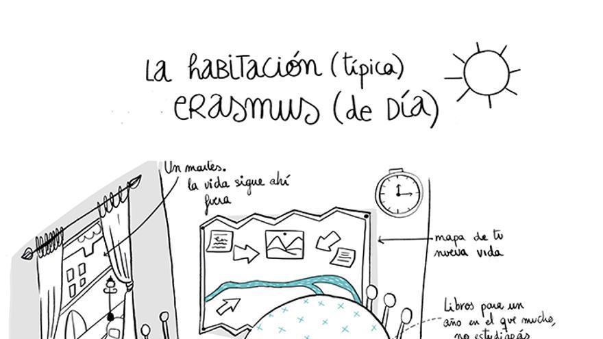 Una ilustración del libro Cosas que nunca olvidarás de tu Erasmus. / Foto: Lunwerg