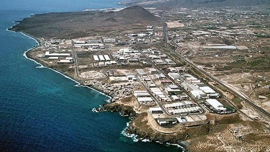 Vista aérea del polígono industrial de Güímar