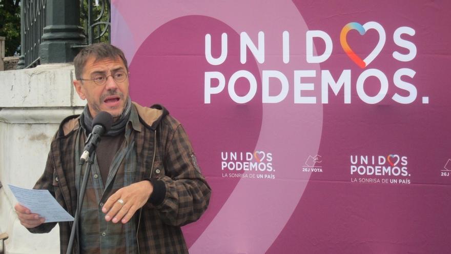 """Monedero afirma que el PSOE """"se ha quitado la careta"""" y que la tesis de Pablo Iglesias era """"la correcta"""""""