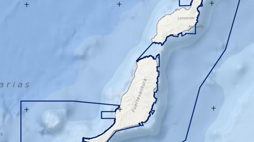 Propuesta del LIC en aguas de Fuerteventura y Lanzarote en el BOE.