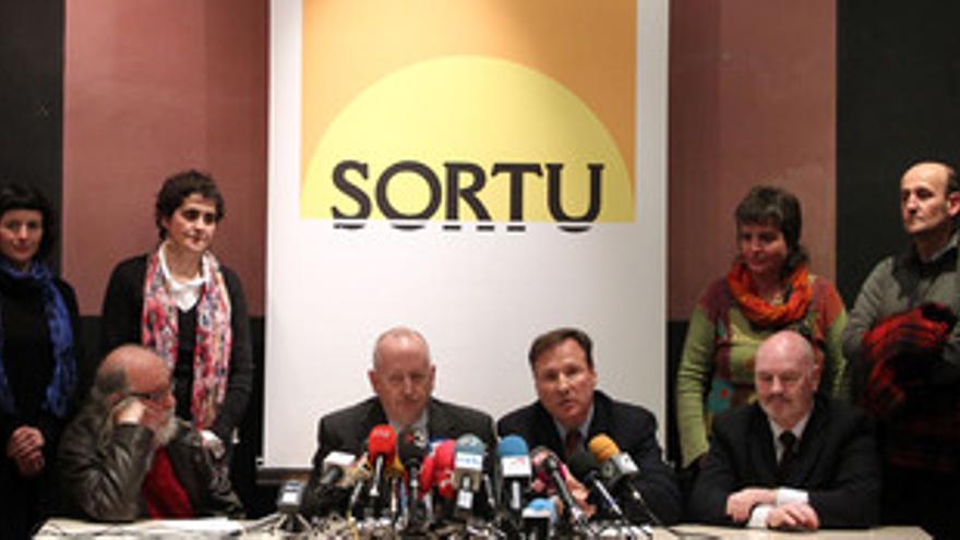 Rueda de prensa del partido Sortu. (EUROPA PRESS)