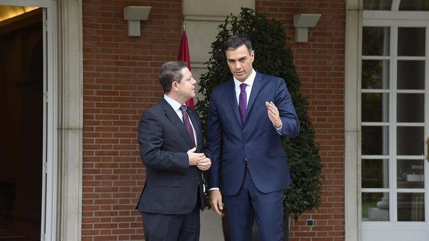 Reunión entre Pedro Sánchez y Emiliano García-Page en Moncloa