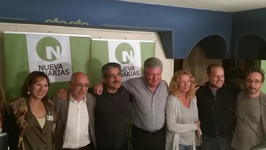 Los candidatos de Nueva Canarias en la noche electoral