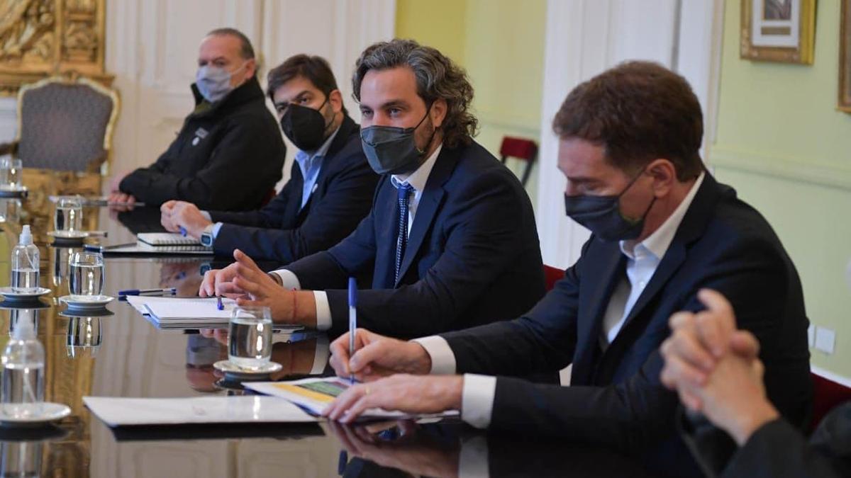Participaron de la reunión Santiago Cafiero, Sergio Berni, Carlos Bianco y Diego Santilli, entre otros.