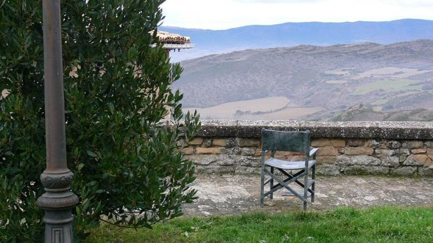 """Una de las sillas de """"La Vaquilla"""". Foto: Ayuntamiento de Sos del Rey Católico"""
