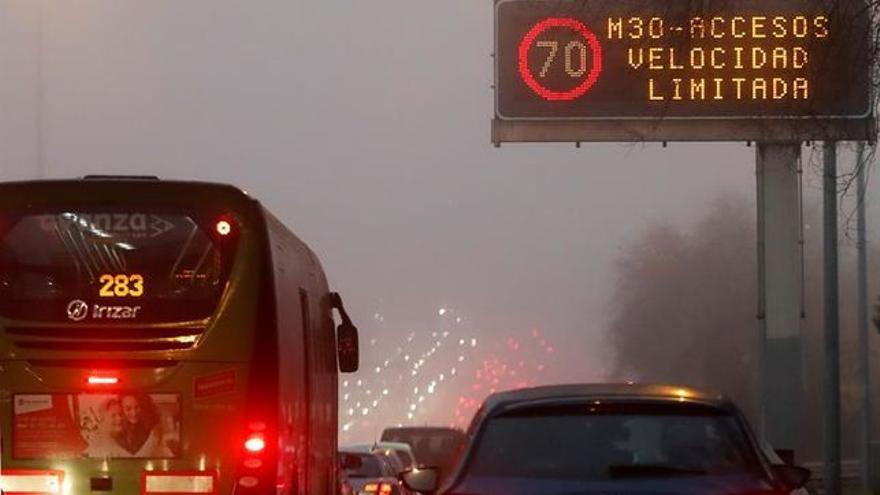 Acceso a Madrid limitados a 70 km/h de velocidad máxima.