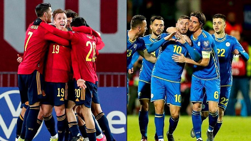 Las selecciones de España y Kosovo