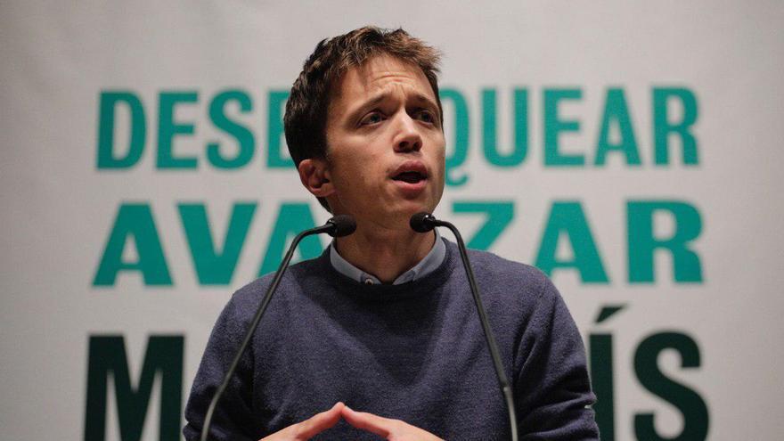 El candidato de Más País, Íñigo Errejón, este lunes en Zaragoza.