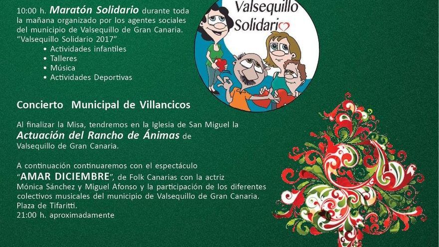 Cartel del Maratón Solidario de Valsequillo.