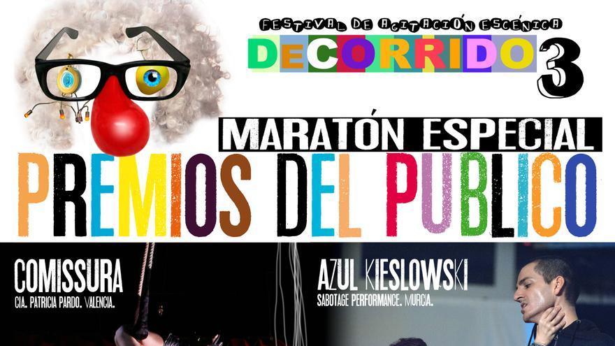 Premios del Público del Festival DeCorrido en el Teatro Circo de Murcia