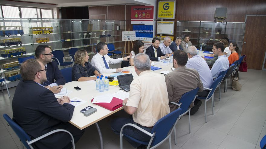 Reunión del Ayuntamiento de Las Palmas de Gran Canaria y Guaguas Municipales con el Banco Europeo de Inversiones