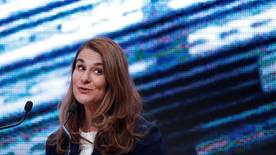 Melinda Gates agradece al Gobierno los 125 millones a la conferencia de donantes.