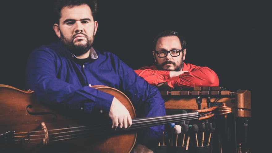 Ciro Hernández y César Martín, chelo y marimba en Socos Dúo