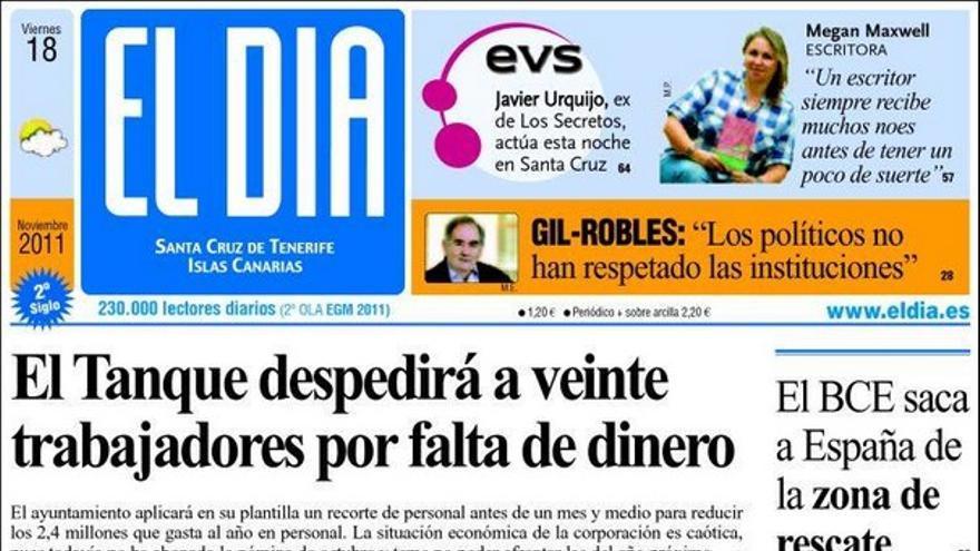 De las portadas del día (18/11/2011) #4