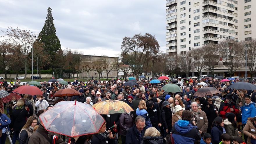 """Una concentración rechaza en Pamplona """"la imposición"""" del programa Skolae por """"ilegal, ilegítimo e injusto"""""""