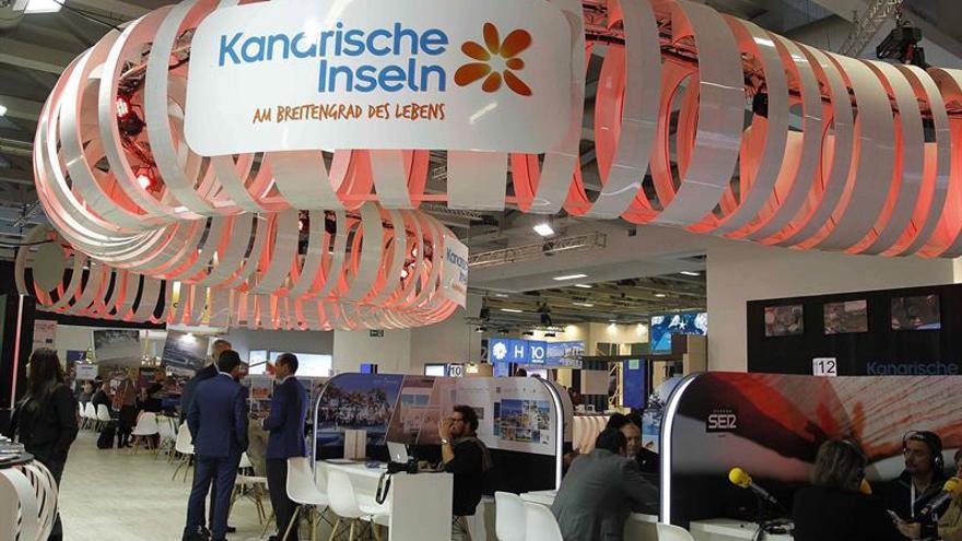 Pabellón de Canarias en la muestra ITB de Berlín, con gestión de Promotur