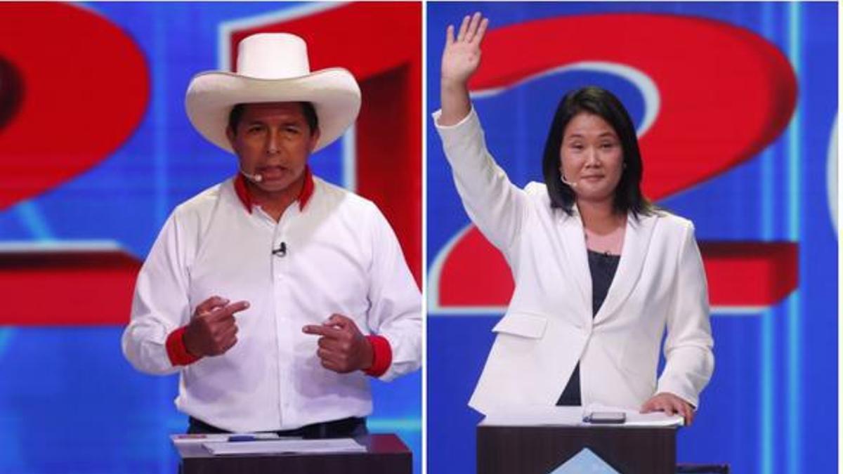 Balotaje en Perú: con el 88% de las actas procesadas, Pedro Castillo redujo la ventaja de Keiko Fujimori a menos del 2%