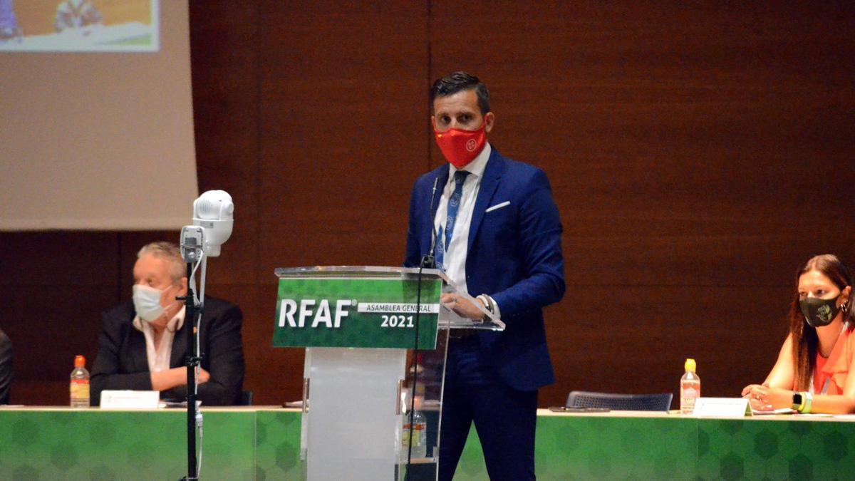 Martín Torralbo, en la Asamblea General de la RFAF