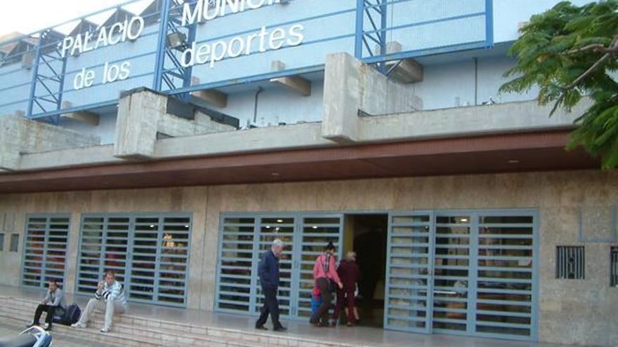Entrada principal del pabellón municipal Quico Cabrera, en una imagen de archivo