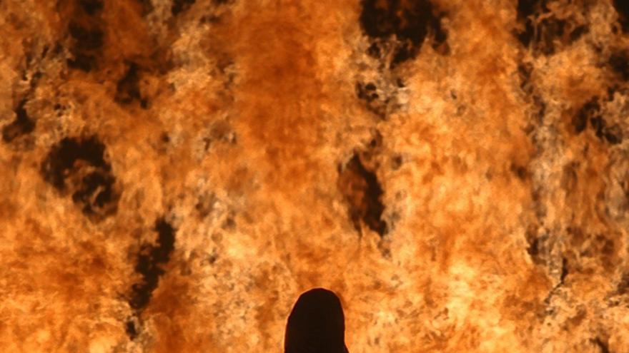 Fire Woman, 2005 Photographs of the works, Kira Perov, © 2018 Kira Perov and Bill Viola, Bill Viola Studio