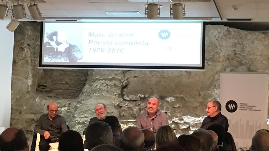 D'esquerra a dreta, Francesc Calafat, Marc Granell, Xavier Rius i Vicent Berenguer.